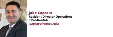 Jake Capraro, Resident Director Operations