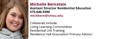 Michelle Bernstein, Assistant Director for Residential Education