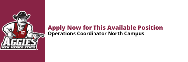 North Campus Operations Coordinator is Currently Available